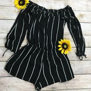 Black and White Striped Kendall and Kylie Romper